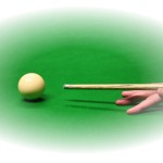 Snooker cue and ball