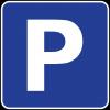 Parking sign P